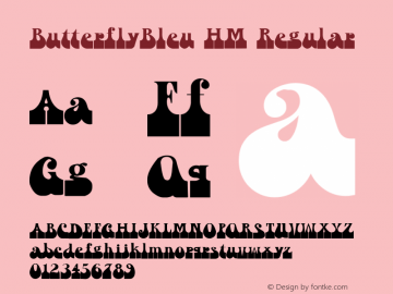 ButterflyBleu HM Regular Version 001.000 Font Sample