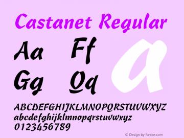 Castanet Regular v1.0c Font Sample