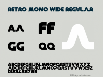 Retro Mono Wide Font,RetroMonoWide Font|Retro Mono Wide Version 1 00