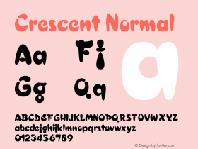Crescent Normal 1.0 Sat Dec 05 15:54:12 1992 Font Sample