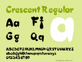 Crescent Regular 001.003 Font Sample