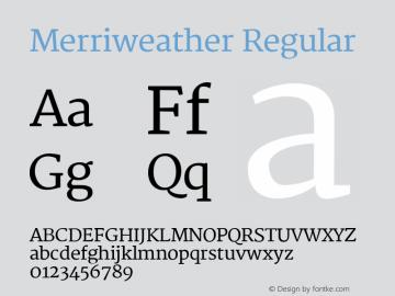 Merriweather Regular Version 1.267 Font Sample