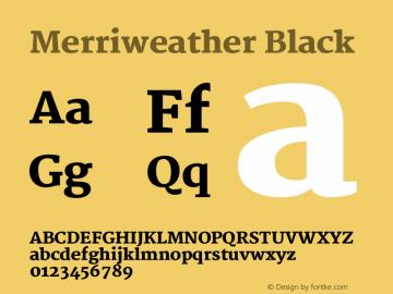 Merriweather Black Version 1.287 Font Sample