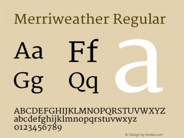 Merriweather Regular Version 1.287 Font Sample