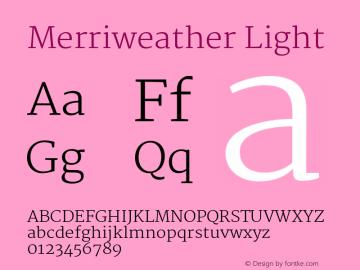 Merriweather Light Version 1.003 Font Sample