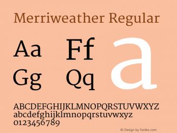 Merriweather Regular Version 1.003 Font Sample
