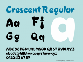Crescent Regular v1.0c Font Sample