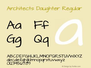 Architects Daughter Regular Version 1.002 2012图片样张