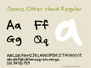 Seans Other Hand Regular Version 2.10 January 2011图片样张