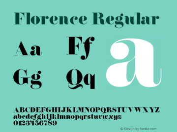 Florence Regular v1.0c Font Sample