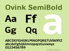 Ovink SemiBold Version 1.0 Font Sample
