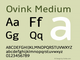Ovink Medium Version 1.0 Font Sample