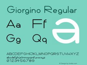 Giorgino Regular Version 1.0 March 19, 2011, initial release图片样张