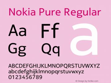 Nokia Pure Regular Version 4.14 Font Sample