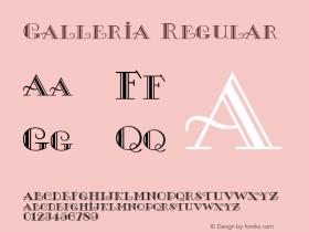Galleria Regular 1.0 Wed Aug 23 20:12:22 1995 Font Sample