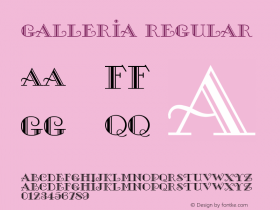 Galleria Regular v1.0c Font Sample