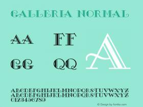 Galleria Normal 1.0 Wed Nov 18 15:57:01 1992 Font Sample