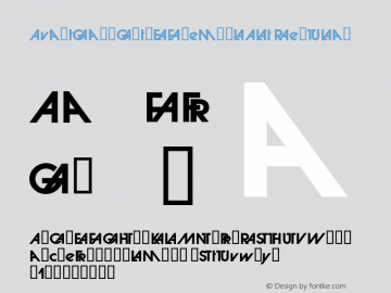 AvantGardGothEFDemBolAlt Regular Macromedia Fontographer 4.1.3 3/24/07图片样张