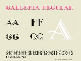 Galleria Regular Version 1.0 Font Sample