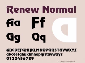 Renew Normal 1.0 Thu Nov 04 14:11:49 1993 Font Sample