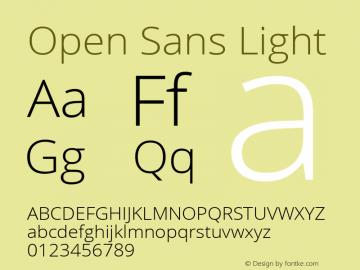Open Sans Light Version 1.10 Font Sample