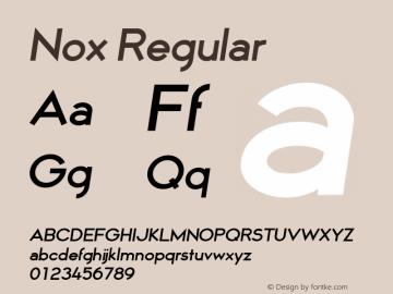 Nox Font,Nox Regular 3 Font,Nox-Regular3 Font Nox Regular 3