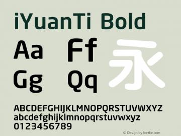 iYuanTi Font,iYuanTi Bold Font iYuanTi Bold Version X X Font-TTF