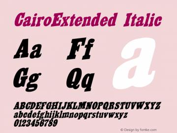 CairoExtended Italic Altsys Fontographer 3.5  8/29/92 Font Sample