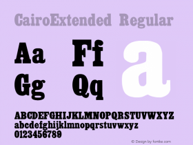 CairoExtended Regular Altsys Fontographer 3.5  8/29/92 Font Sample