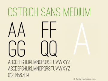Ostrich Sans Medium Version 1.000 Font Sample