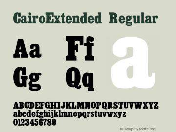 CairoExtended Regular Altsys Fontographer 3.5  8/29/92 Font Sample