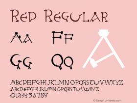 Red Regular Altsys Fontographer 3.5  8/29/92 Font Sample
