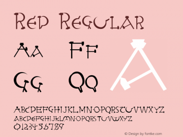 Red Regular Altsys Fontographer 3.5  8/29/92 Font Sample