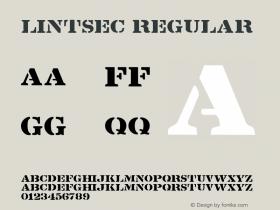 Lintsec Regular Altsys Fontographer 3.5  8/26/92 Font Sample