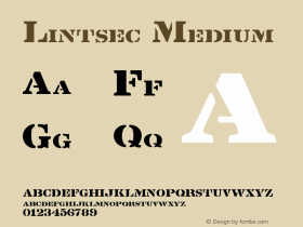 Lintsec Medium 001.000 Font Sample