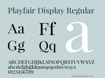 Playfair Display Regular Version 1.033 Font Sample