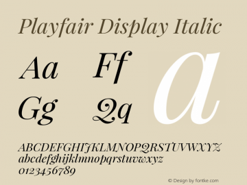 Playfair Display Italic Version 1.002;PS 001.002;hotconv 1.0.70;makeotf.lib2.5.58329; ttfautohint (v0.93) -l 42 -r 42 -G 200 -x 14 -w