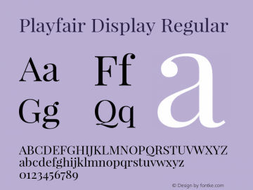 Playfair Display Regular Version 1.003;PS 001.003;hotconv 1.0.70;makeotf.lib2.5.58329 Font Sample