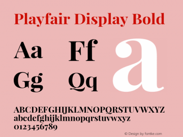 Playfair Display Bold Version 1.002;PS 001.002;hotconv 1.0.70;makeotf.lib2.5.58329; ttfautohint (v0.93) -l 42 -r 42 -G 200 -x 14 -w