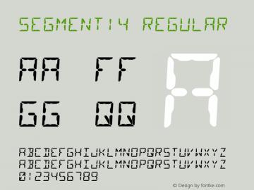 Segment14 Regular Version 1.001图片样张