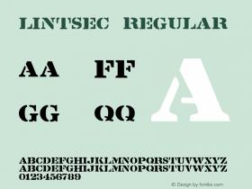 Lintsec Regular 001.025 Font Sample