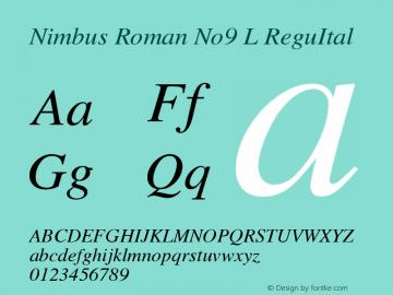 Nimbus Roman No9 L ReguItal Version 1.06图片样张