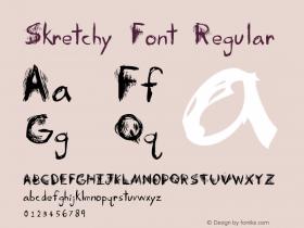 Skretchy Font Regular Version 1.000图片样张