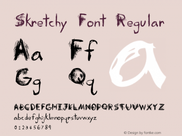 Skretchy Font Regular Version 1.000图片样张