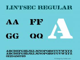 Lintsec Regular 001.000 Font Sample