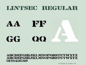 Lintsec Regular 1.25 Font Sample