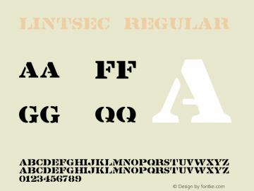 Lintsec Regular Version 1.000;PS 001.001;hotconv 1.0.38 Font Sample