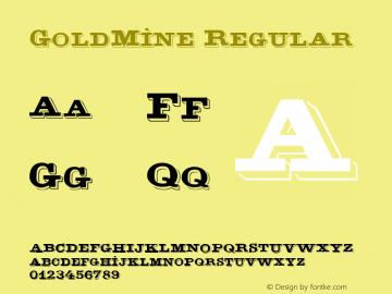 GoldMine Regular 1.0 Thu Aug 24 11:37:16 1995 Font Sample