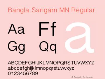 Bangla Sangam MN Regular 7.0d4e1 Font Sample