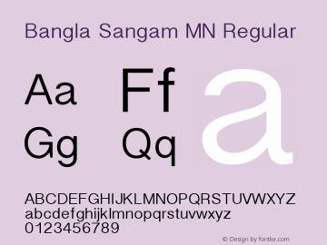 Bangla Sangam MN Regular 10.0d7e3 Font Sample
